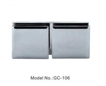 180 Degree Glass to Glass Square Beveled Glass Clamps[GC-106]