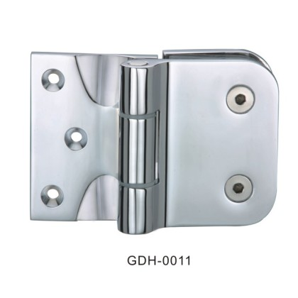 Brass Casting Chrome Plated Glass Door Hinges Wall to Glass[GDH-0011]