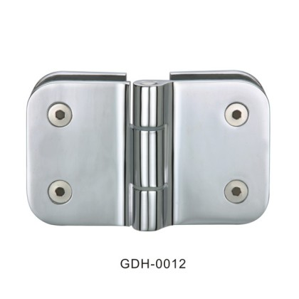 Glass to Glass Rounded Edge Nickel Plated Glass Door Hinges[GDH-0012]