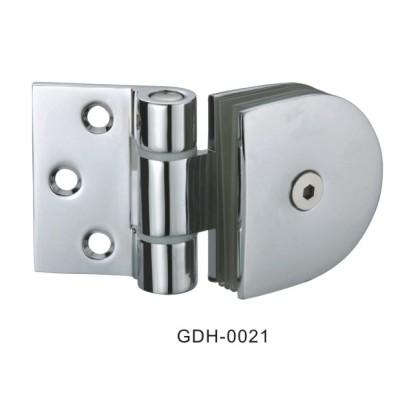 Mur de verre à moitié autour de charnières de porte en verre[GDH-0021]