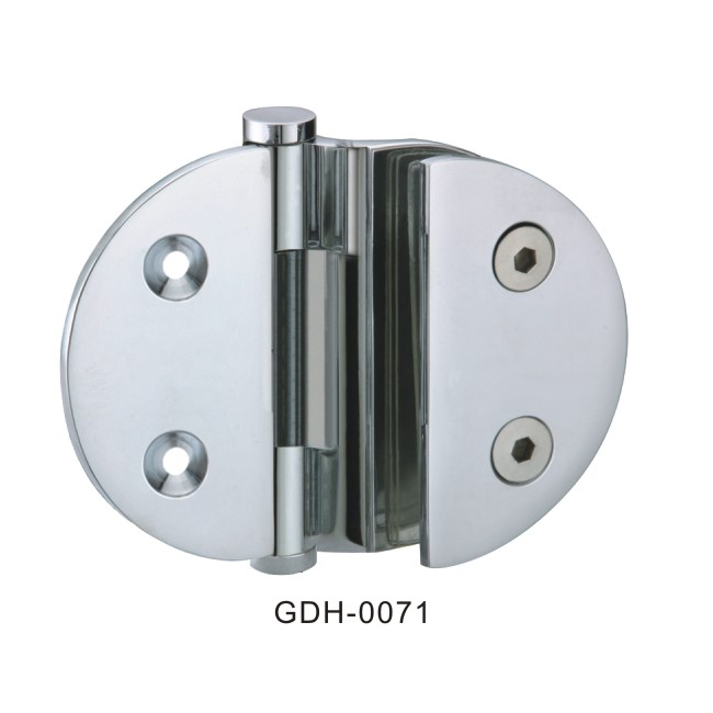 Wall To Glass Round Glass Door Hinges 0071
