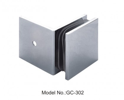 90 Degree Glass to Wall Sharp Square Glass Clamps[GC-302]