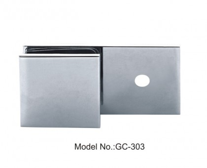 180 Degree Glass to Wall Sharp Square Glass Clamps[GC-303]