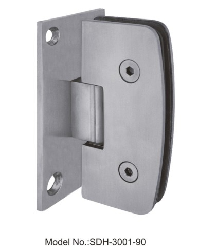 90 Degree Shower Door Hinges Manufacturers in stainless steel[SDH-3001-90]