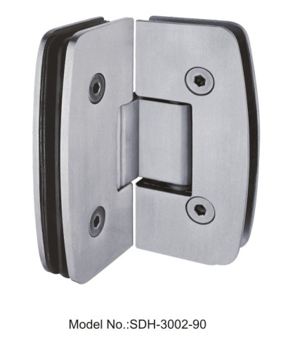 90 Degree Glass Door Hinges Manufacturers in stainless steel[SDH-3002-90]
