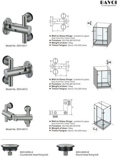 Faddy-Wall to glass hinge manufacturer [SDH-6011][SDH-6012][SDH-6013][SDH-6000-A][SDH-6000-B]