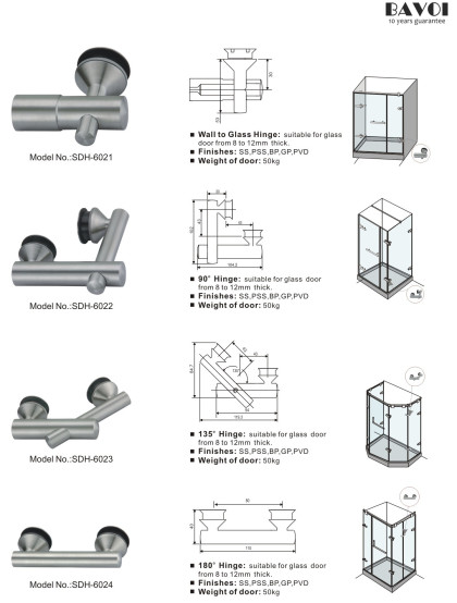 Faddy-90 135 180 degree glass hinges manufacturer [SDH-6021][SDH-6022][SDH-6023][SDH-6024]