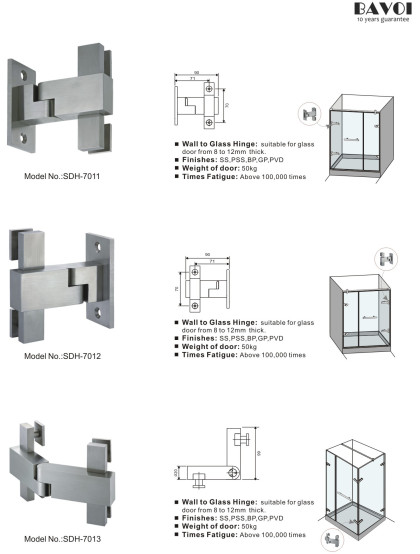 Lucifer-Wall to glass hinge manufacturer square design[SDH-7011][SDH-7012][SDH-7013]