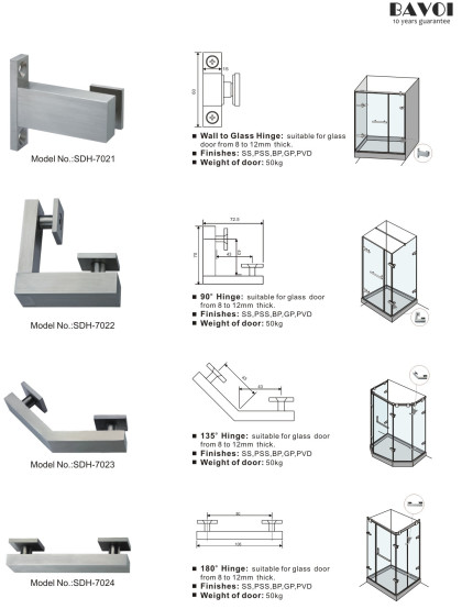 Lucifer-90 135 180 degree glass hinges manufacturer [SDH-7021][SDH-7022][SDH-7023][SDH-7024]