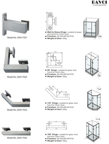 Lucifer-90 135 180 degree glass hinges manufacturer [SDH-7021][SDH-7022][SDH-7023][SDH-7024]