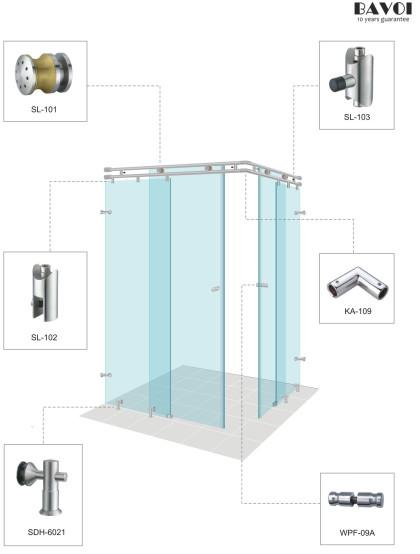 Roller-Shower sliding system solution[SL-101,SL-102,SL-103,KA-109,SDH-6021,WPF-09A]
