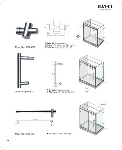Vinna-Shower hinge Glass clip[SDH-5002][SDH-5105][SDH-5107]
