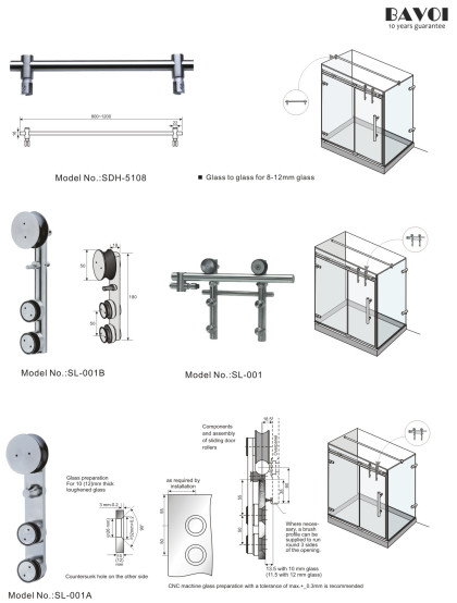Vinna-Glass Connector Manufacturer Sliding door component[SDH-5108][SL-001A][SL-001B]