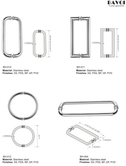 Stainless steel bathroom pull handle manufacturer [BH-010,BH-011,BH-012,BH-004]