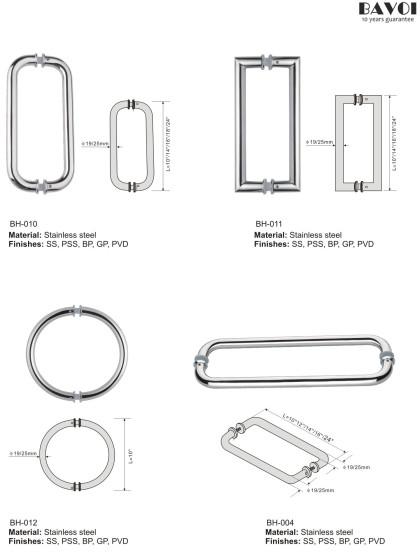 Stainless steel bathroom pull handle manufacturer [BH-010,BH-011,BH-012,BH-004]