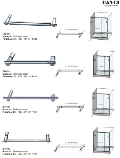 Bathroom towel bar manufacturer for glass door[BH-013,BH-014,BH-015,BH-016]