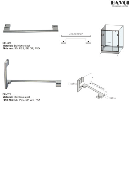 Shower door towel bar manufacturer for bathroom[BH-021,BH-022]