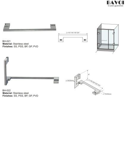 Shower door towel bar manufacturer for bathroom[BH-021,BH-022]