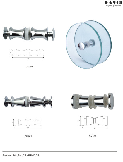 Glass Shower door knob pulls supplier for bathroom [DK101,102,103]