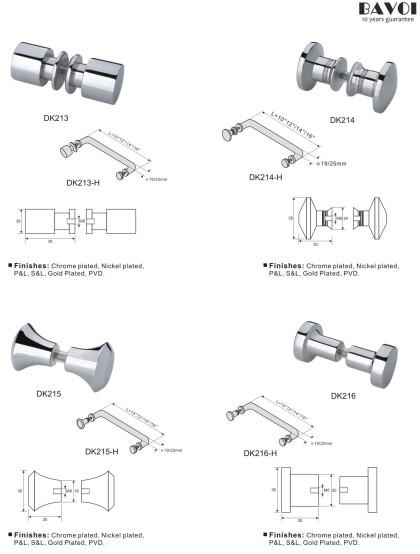 Bathroom glass door knob handles for shower door[DK213,214,215,216]