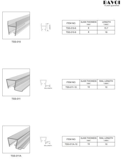 Bathroom Translucent sealing strip manufacturer [TSS-010,011,011A]