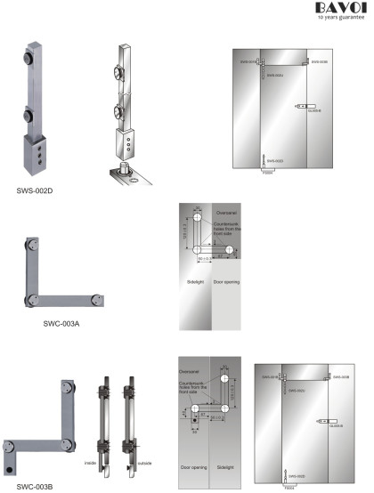Micheal-Folding glass doors systems Swing door system[SWS-002D,001B,SWC-003A,003B]