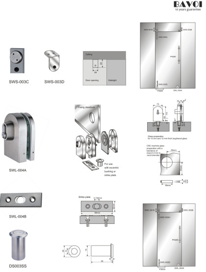 Micheal-Bathroom Swing door system Manufacturer[SWS-003C,003D,SWL-004A,004B]