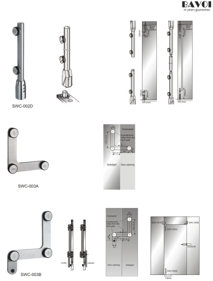 Marco-Swing door system component for shower room[SWC-002D,003A,003B]