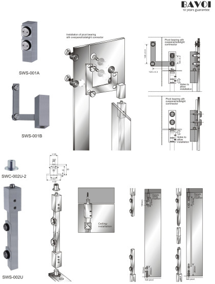 Micheal-Square Design Swing door system[SWS-001A,001B,SWC-002U-2,SWS-002U]