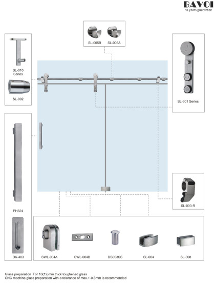 Tracy-Sliding door system supplier for bathroom