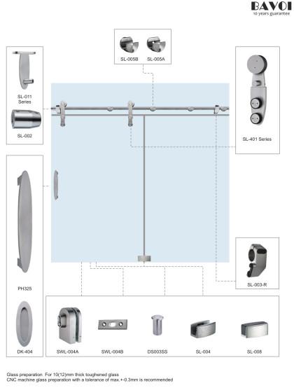 Krisy-Bathroom Sliding door system supplier