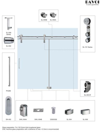 Lucky-Sliding door system manufacturer for shower room