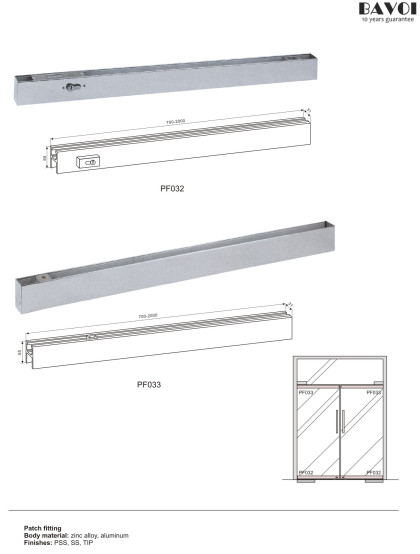 Patch fitting for glass door system[PF032,PF033]