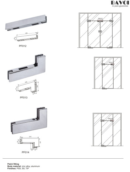 Glass door patch fitting manufacturer [PF012,PF013,PF014]