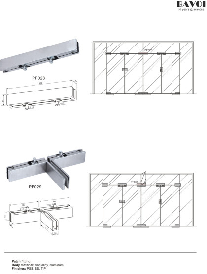 Patch fitting for glass door system[PF028,PF029]