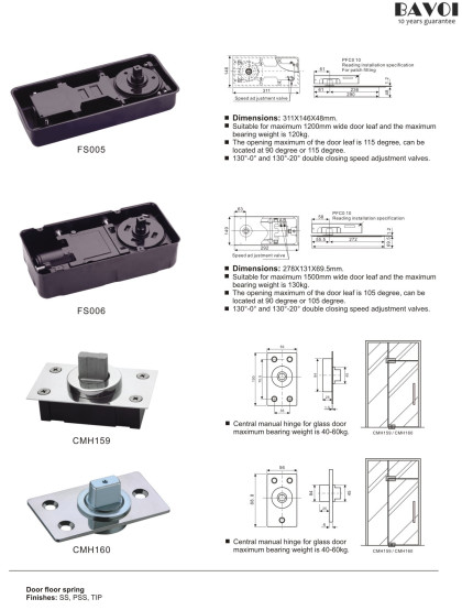 Floor spring Glass Patch Fitting Manufacturer China Factory[FS005,FS006,CMH159,CMH160]