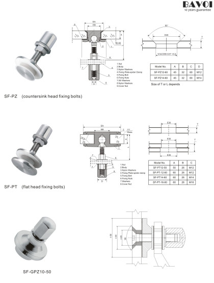 Construction Spider fitting manufacturer China factory[SF-PZ,PT,GPZ10-50]