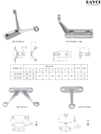 Architecture Spider fitting manufacturer China factory for glass[SF-VF250-2,1-180,V210-2,1-180]