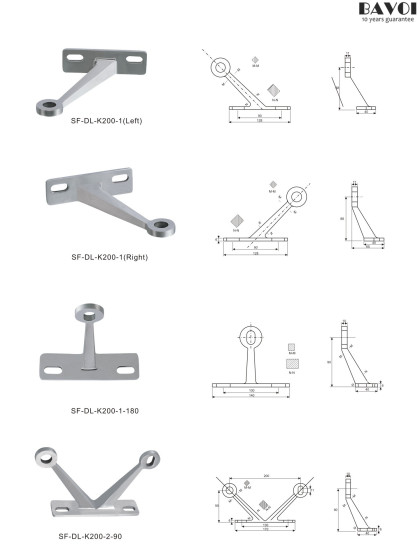 Building Spider fitting manufacturer China factory for glass[SF-DL-K200-1,1-180,2-90]