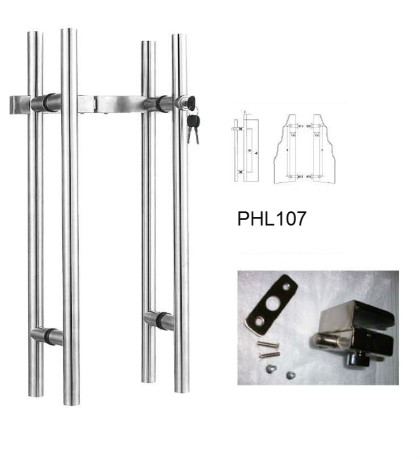 304 Stainless steel Locking pull handles with European Cylinder[PHL107]