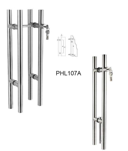 304 Stainless steel Locking pull handles with European Cylinder[PHL107A]