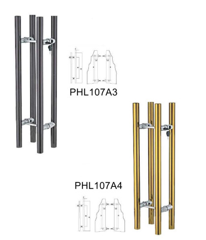 304 Stainless steel Locking pull handles European Cylinder Polished[PHL107A3,A4]
