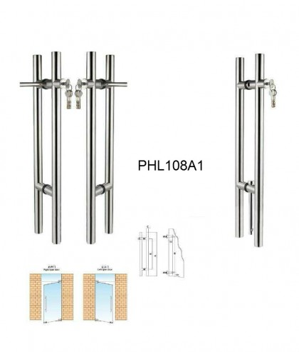 stainless steel glass door Locking pull handles manufacturer[PHL108A1]