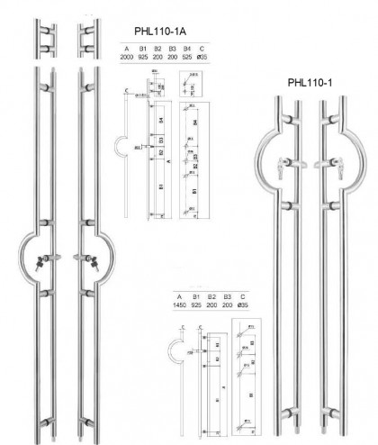custom LFIC SFIC locking ladder pull handles manufacturer