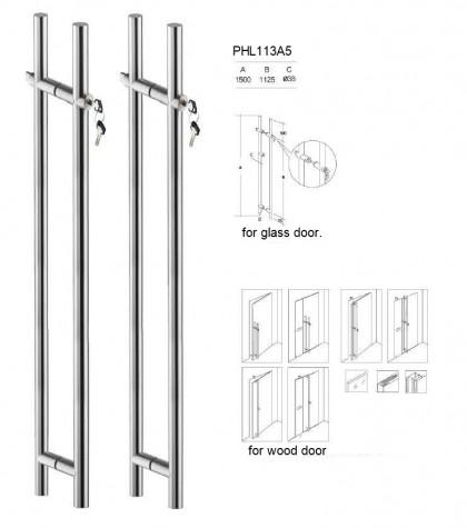 Bavoi PHL113 60″ bottom locking ladder pulls handles for wood door