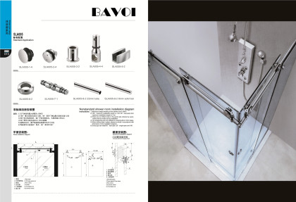 304 stainless steel shower sliding system manufacturer[SLA005]