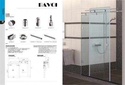 Glass shower room sliding door system solution supply[SLA008]