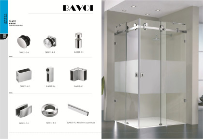 90 180 degree glass sliding door system factory[SLA013]