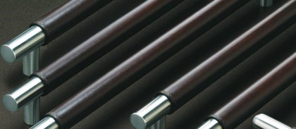 Leather pull handles