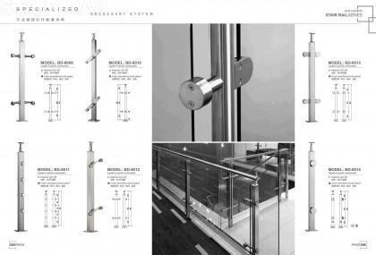 Custom stair handrail China manufacturer factory